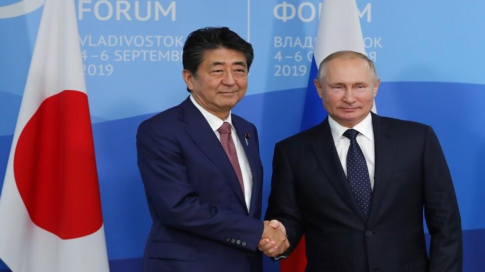 بوتين وآبي يؤكدان تمسكهما بجهود إبرام اتفاق سلام