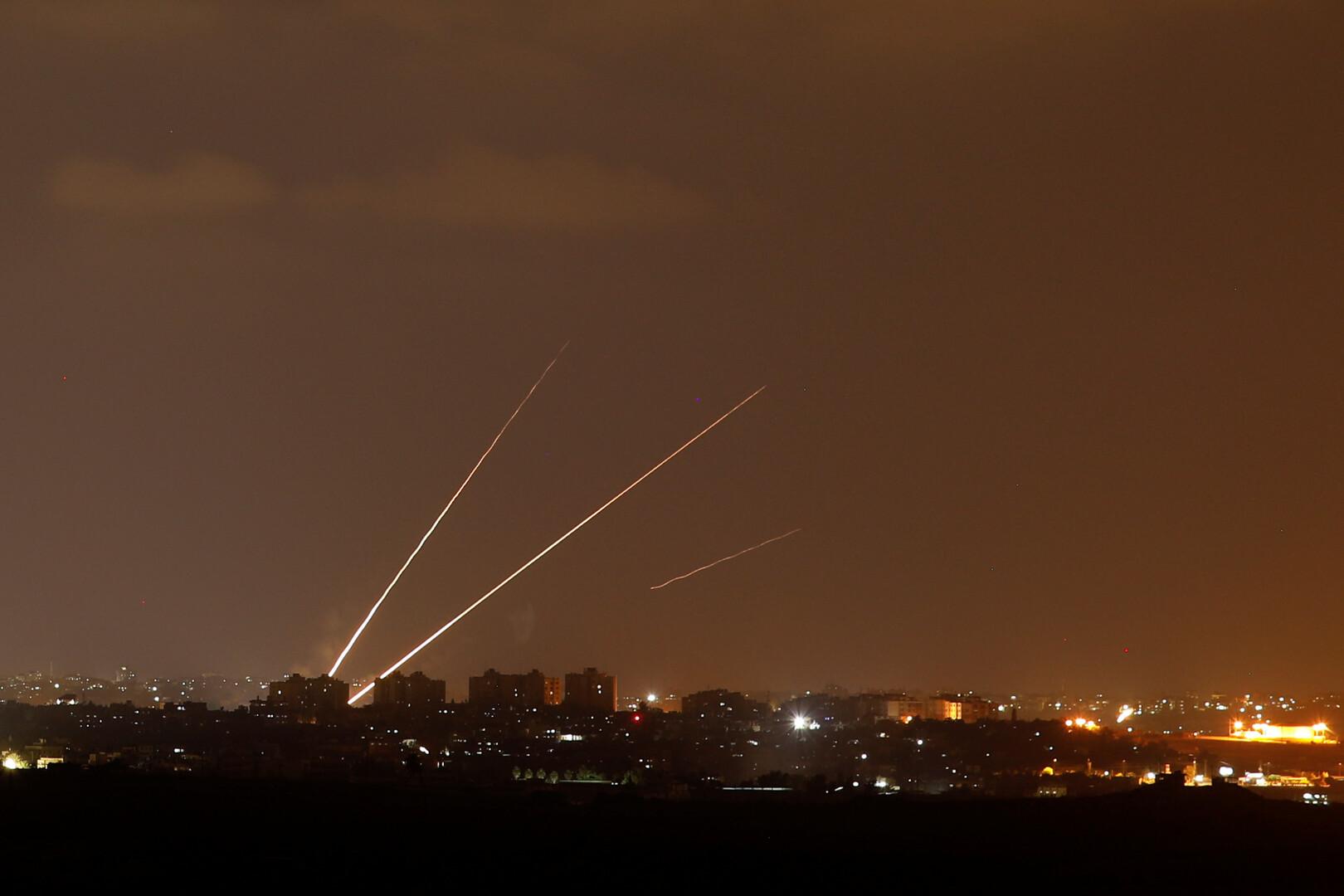 الجيش الإسرائيلي: إطلاق 5 قذائف صاروخية من قطاع غزة