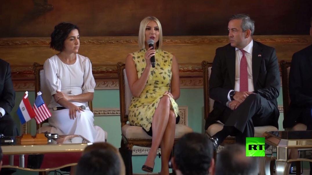 شاهد.. إيفانكا ترامب في ضيافة الرئيس الباراغوائي ماريو عبده بنيتيس