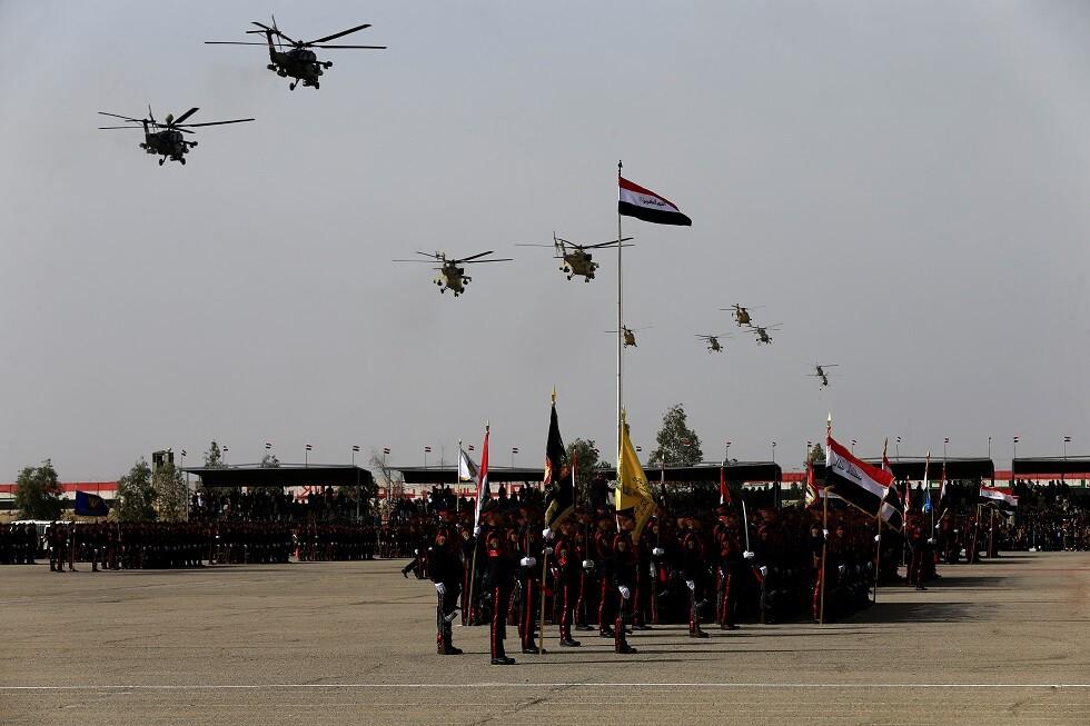 احتفالات بالذكرى السنوية ليوم الجيش العراقي في بغداد، 6 يناير 2018
