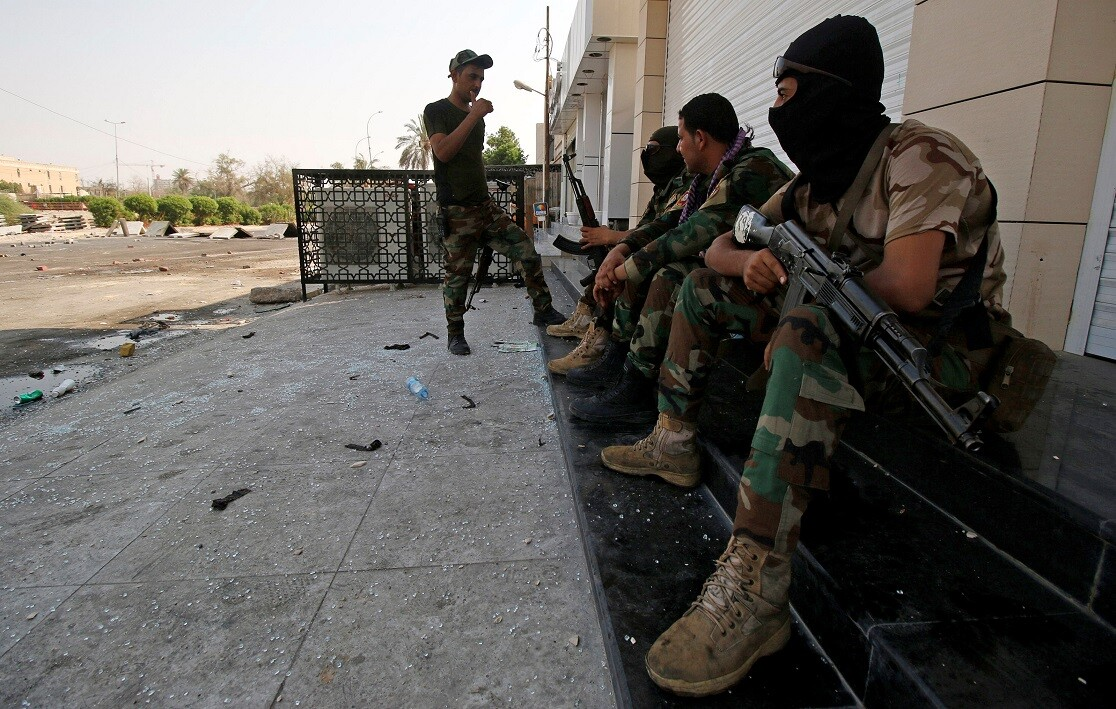 مجموعة من أفراد قوات الأمن العراقية