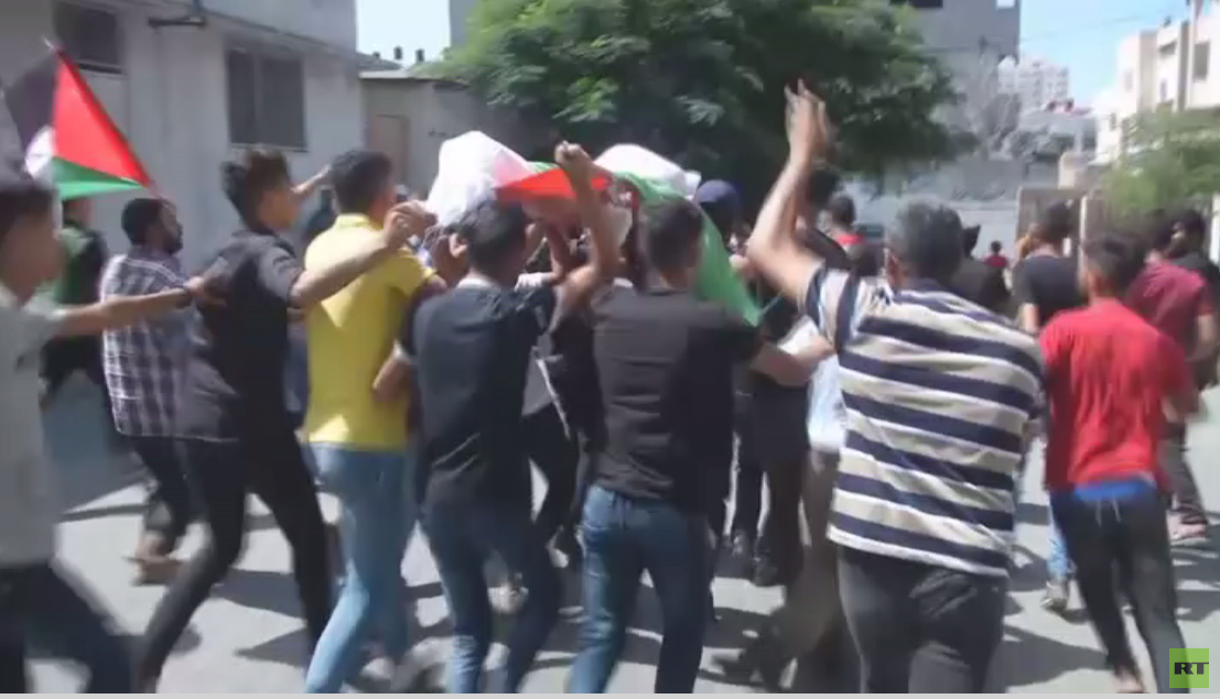 Gaza mourns two young men on their return home in March