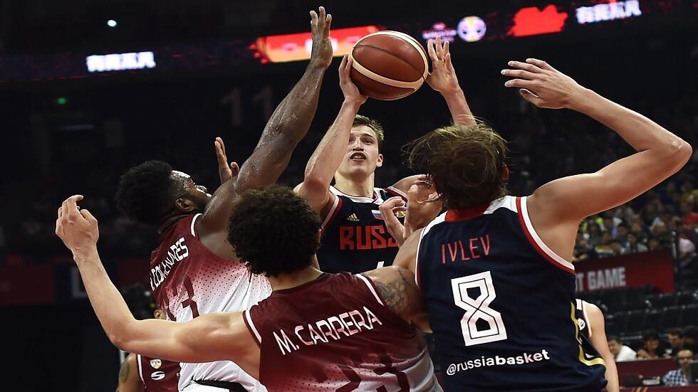 روسيا تتغلب على فنزويلا في مونديال كرة السلة