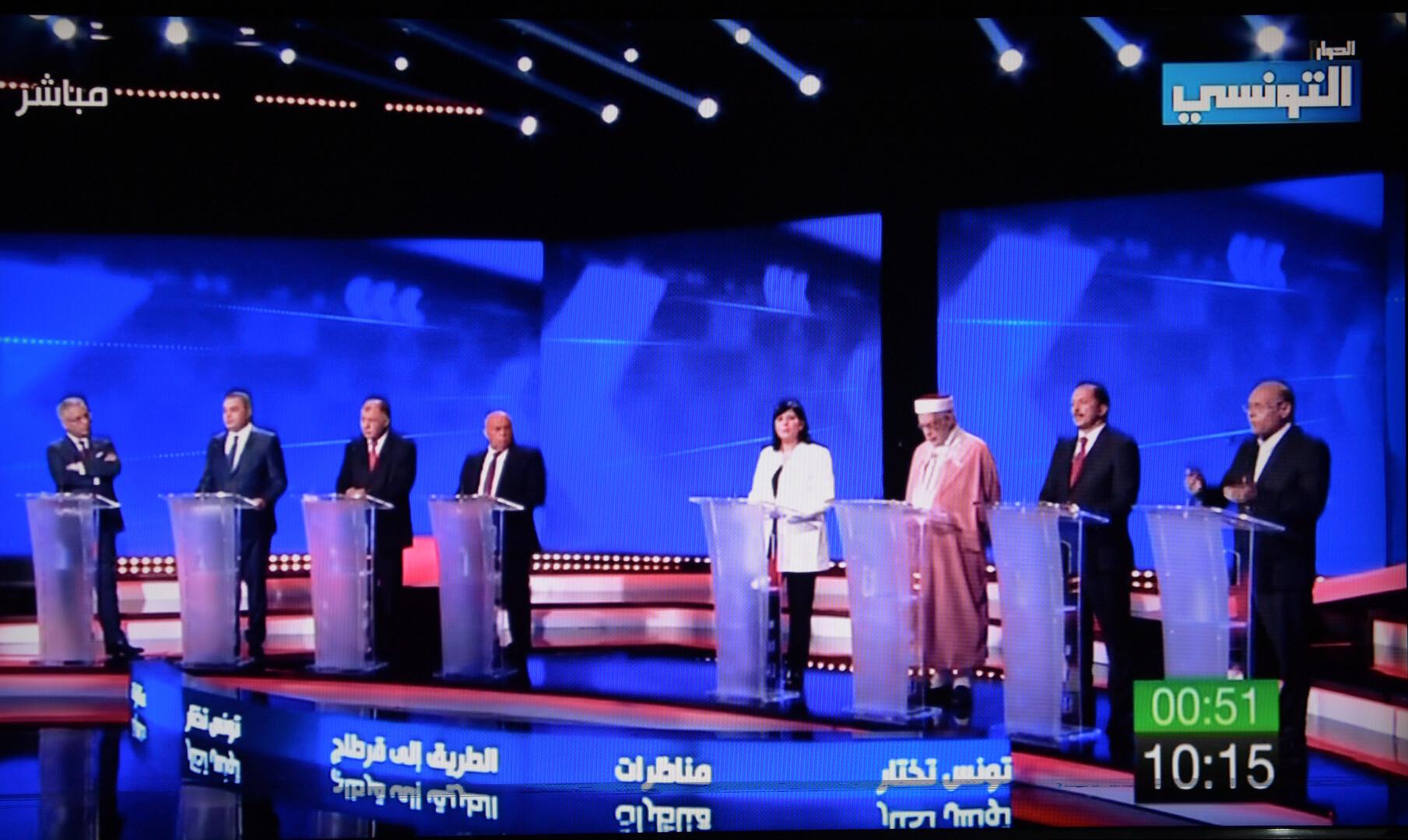 التونسيون يتابعون مناظرات المرشحين في ذروة الحملة الانتخابية الرئاسية