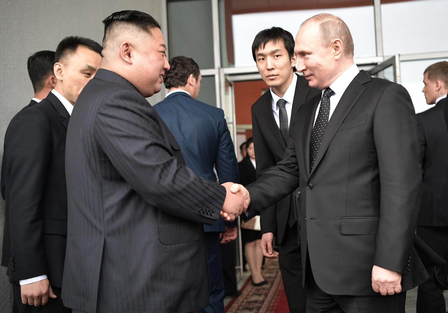 بوتين يهنئ كيم جونغ أون