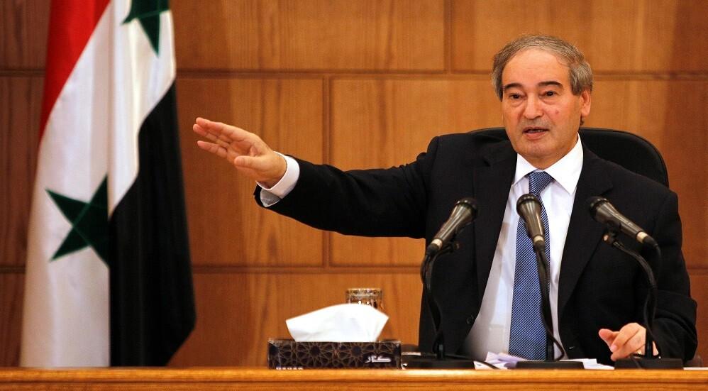 فيصل مقداد نائب وزير الخارجية السوري