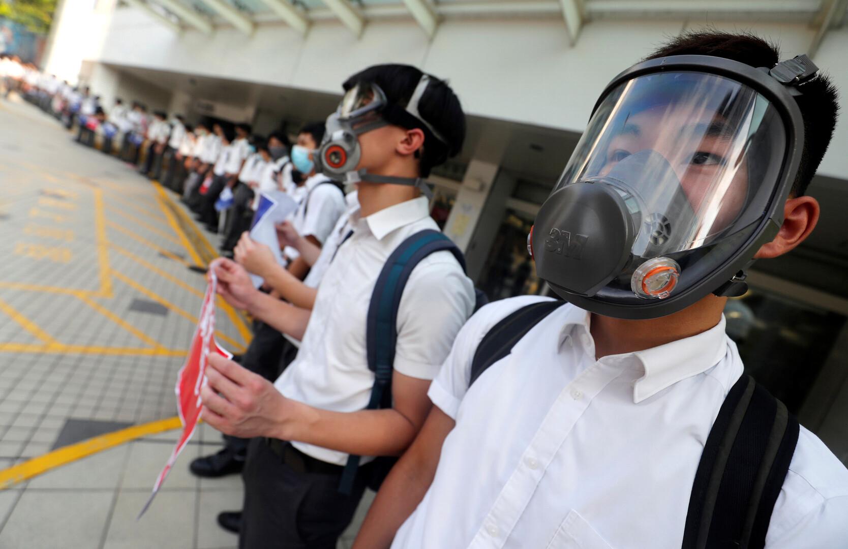 سلاسل بشرية.. شكل جديد من الاحتجاجات في هونغ كونغ