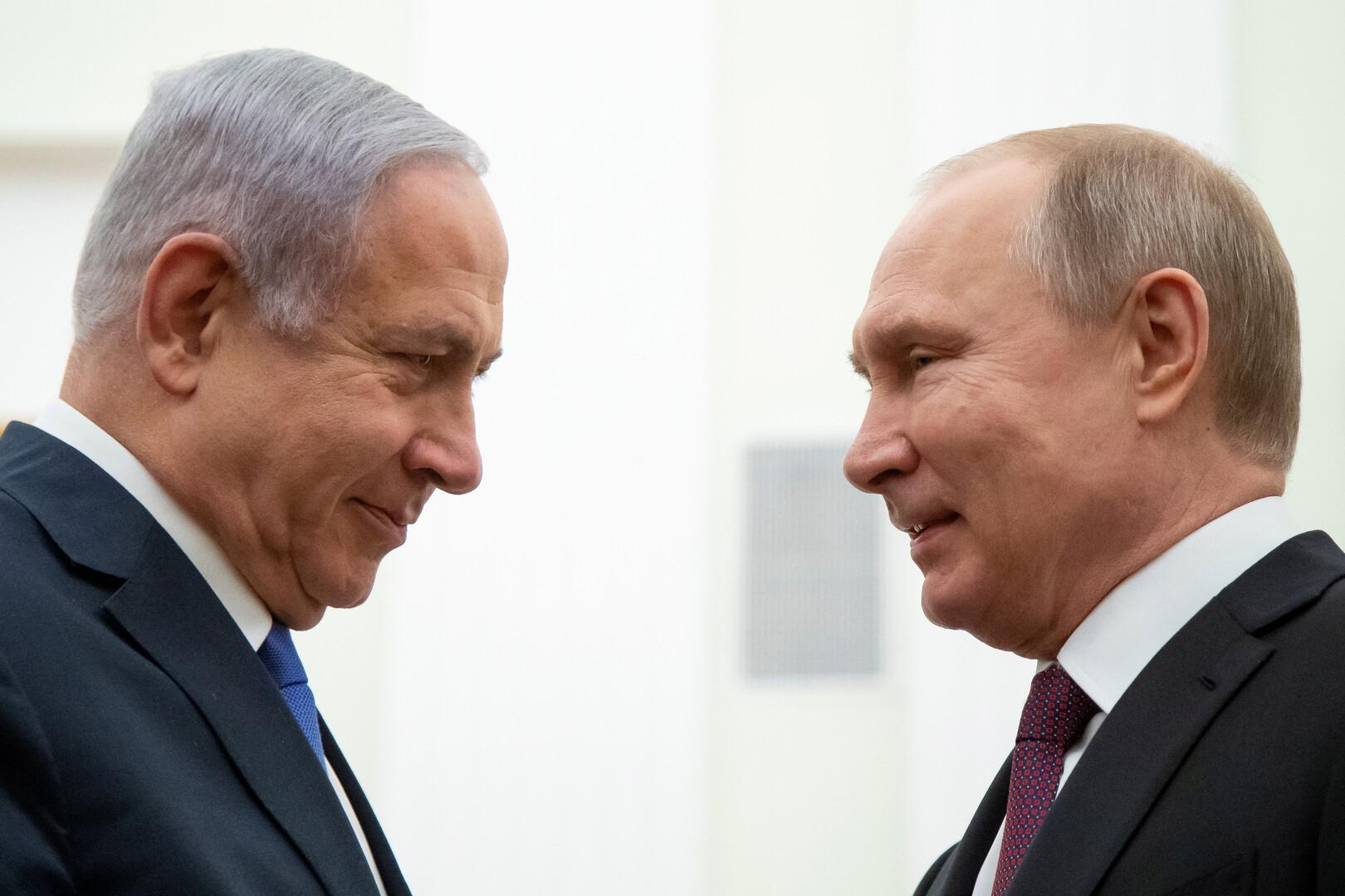 بوتين ونتنياهو - صورة من الأرشيف