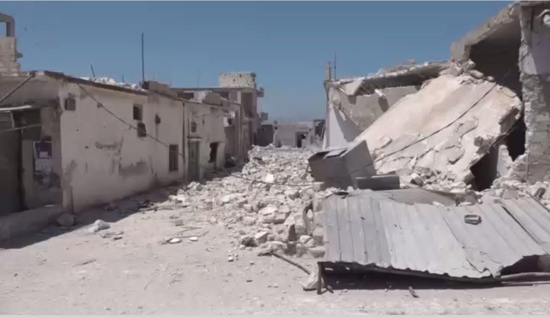 الدمار في ريفي حماة وإدلب بسوريا