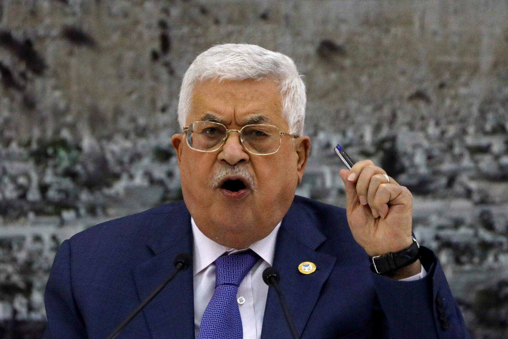 عباس: ضم إسرائيل أي أراض فلسطينية محتلة سينهي فرص السلام