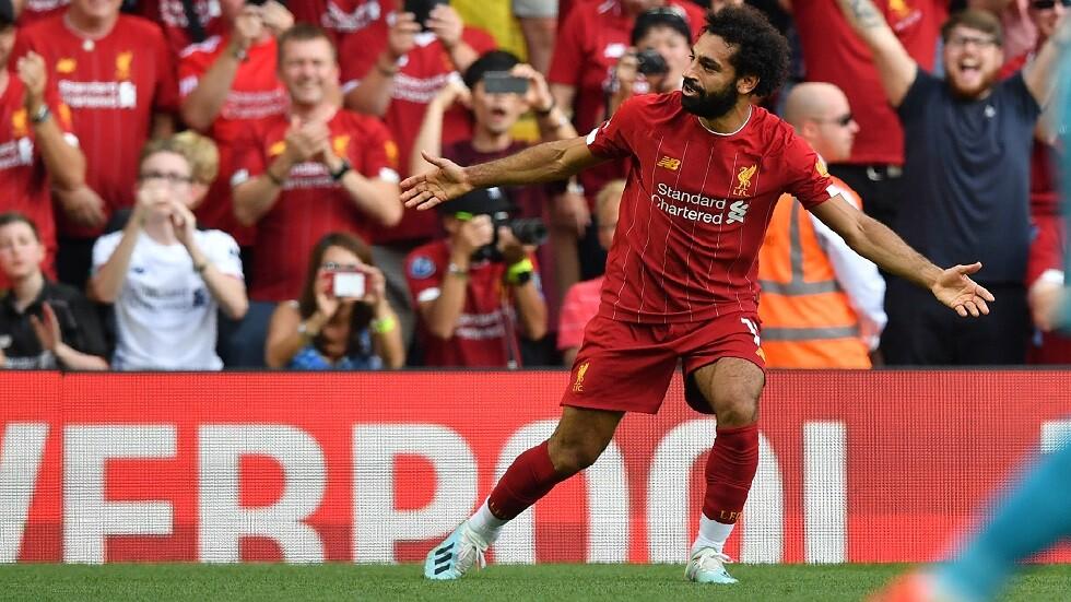 ليفربول يحتفي بالهدف الرائع لمحمد صلاح (فيديو)