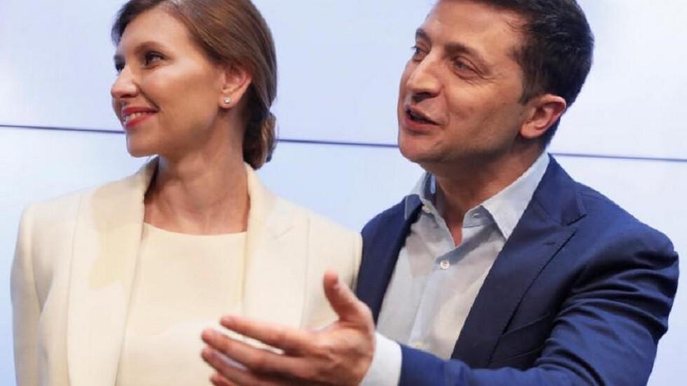 زيلينسكي وزوجته