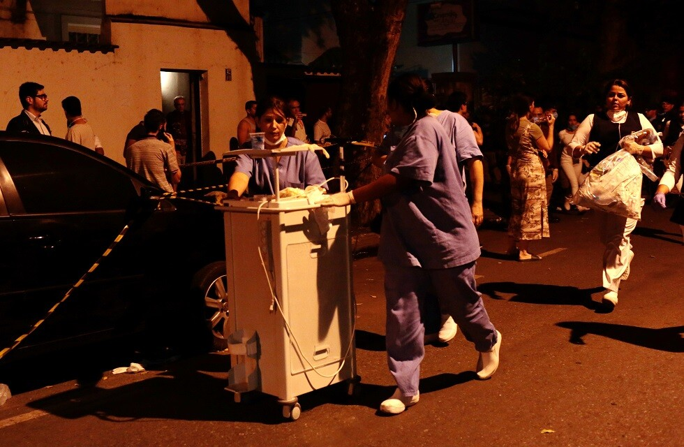 مصرع 10 أشخاص بحريق في مستشفى برازيلي (صور)