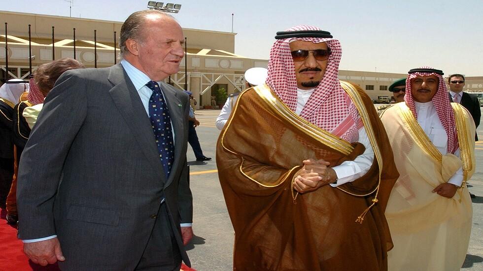 ملك إسبانيا آنذاك خوان كارلوس يزور الرياض عام 2006