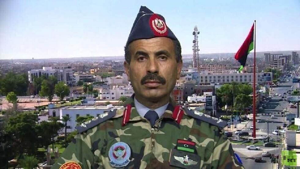 المتحدث باسم قوات حكومة الوفاق الوطني الليبية العقيد محمد قنونو (صورة أرشيفية)