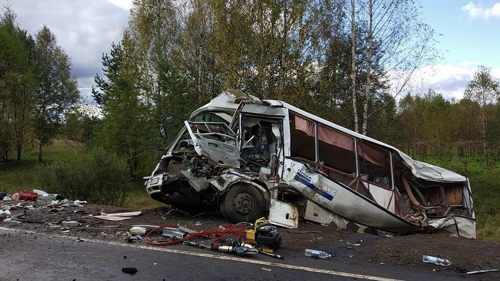 قتلى وجرحى بحادث سير مروع وسط روسيا