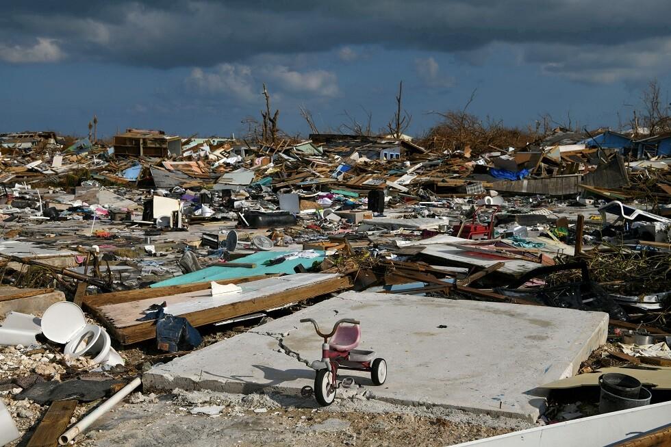 آثار إعصار دوريان