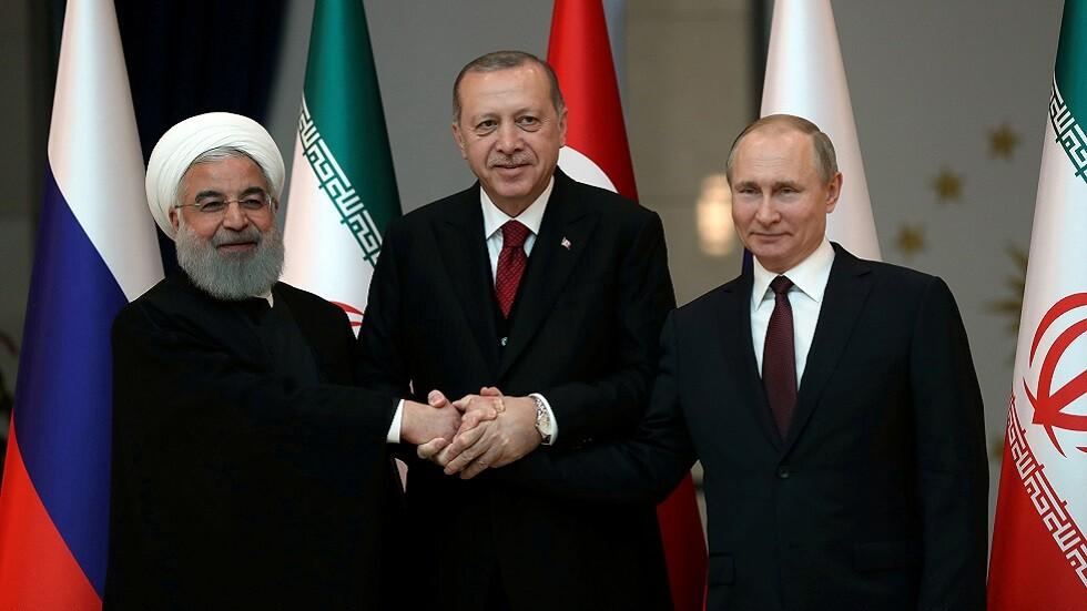 القمة الروسية التركية الإيرانية في أنقرة في أبريل 2018
