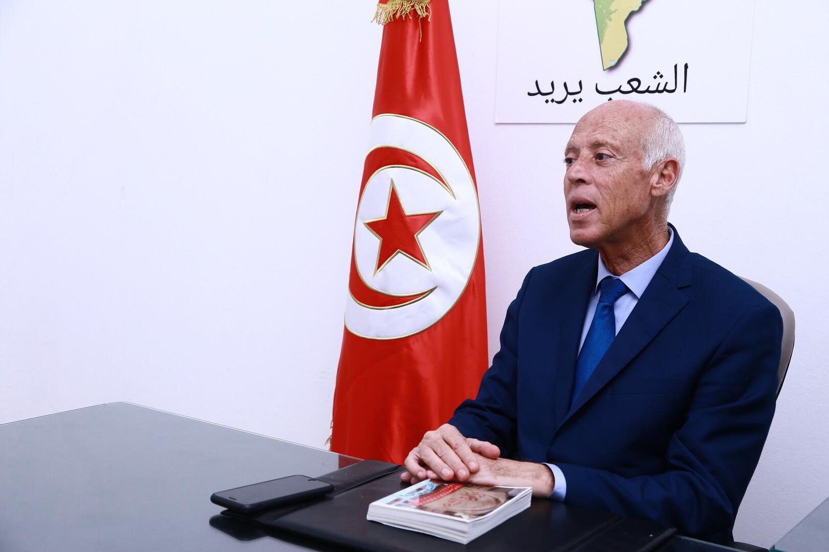 المرشح المتصدر لنتائج الدور الأول للانتخابات الرئاسية التونسية قيس سعيد