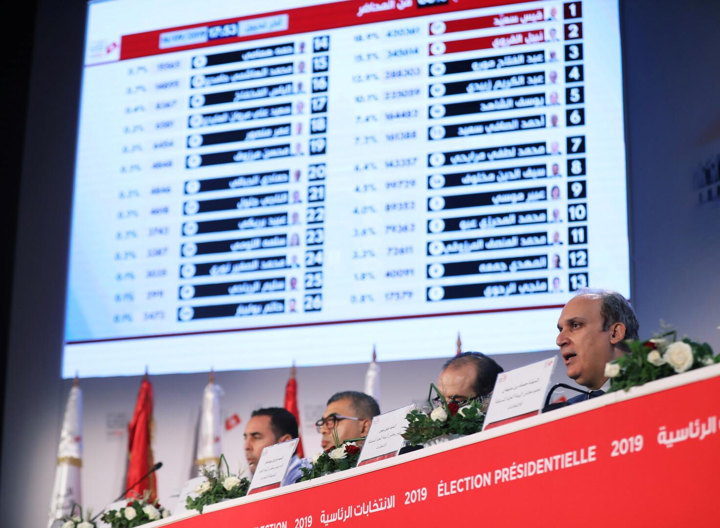 انتخابات تونس.. سعيد والقروي في المقدمة -