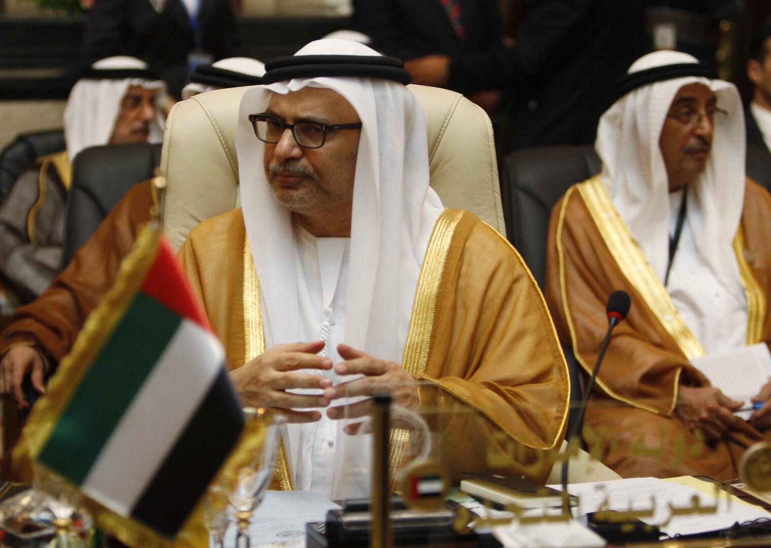 أنور قرقاش، وزير الدولة الإماراتي للشؤون الخارجية