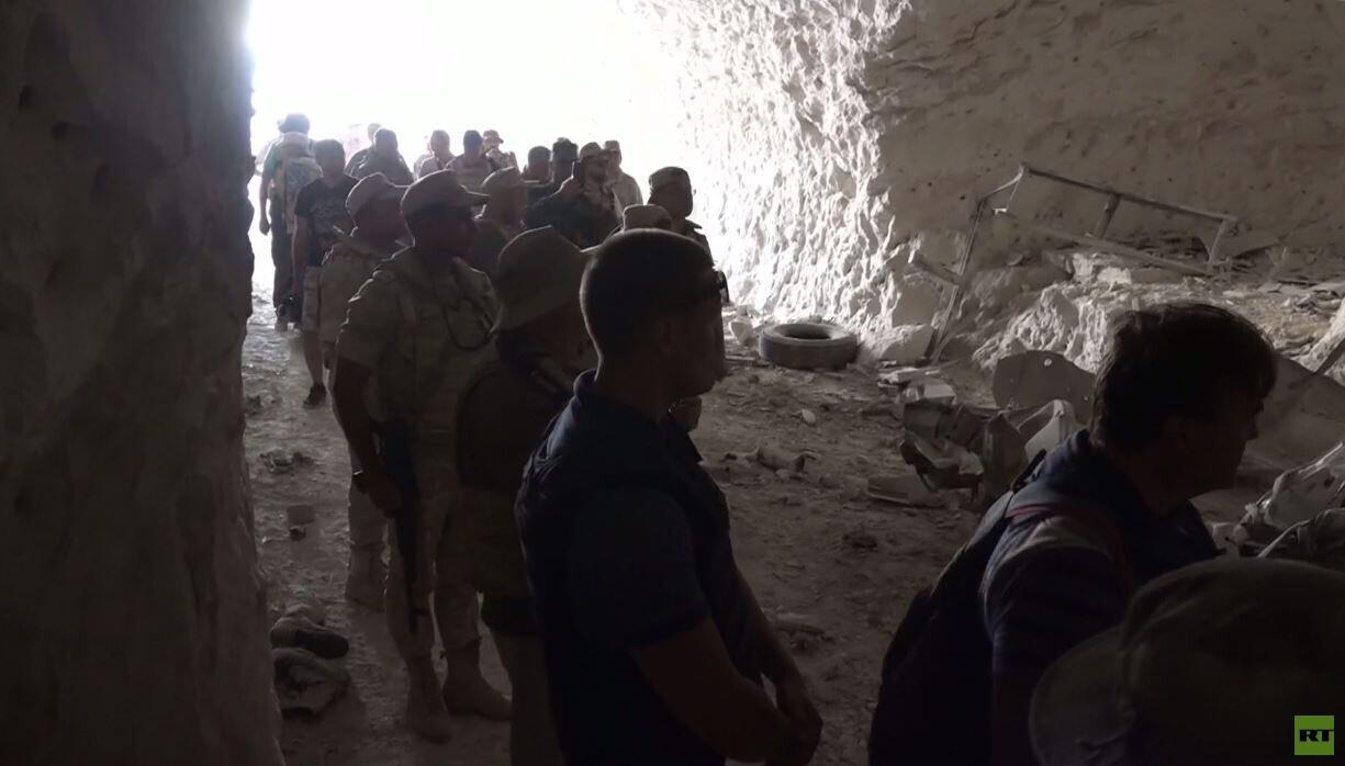 الجيش السوري يعثر على كهف في خان شيخون استخدم قاعدة للمسلحين و