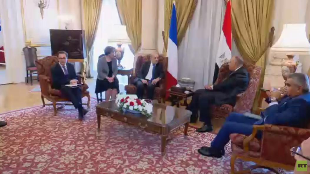مباحثات مصرية فرنسية بالقاهرة