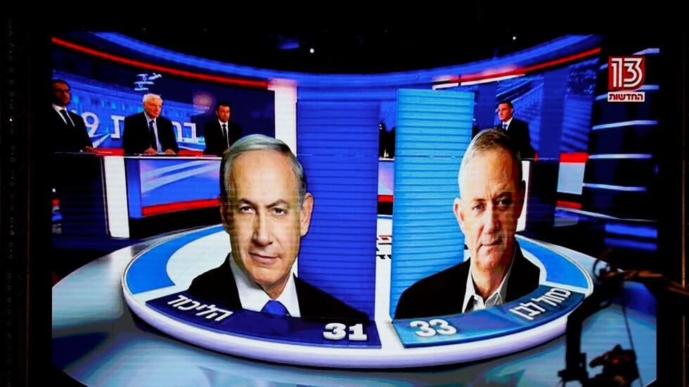 استطلاعات: تقارب النتائج بين غانتس ونتنياهو في الانتخابات الإسرائيلية