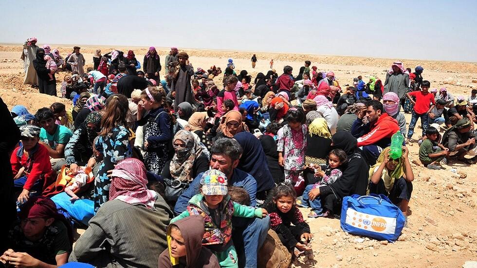 عائدون من مخيم الركبان السوري (صورة أرشيفية)