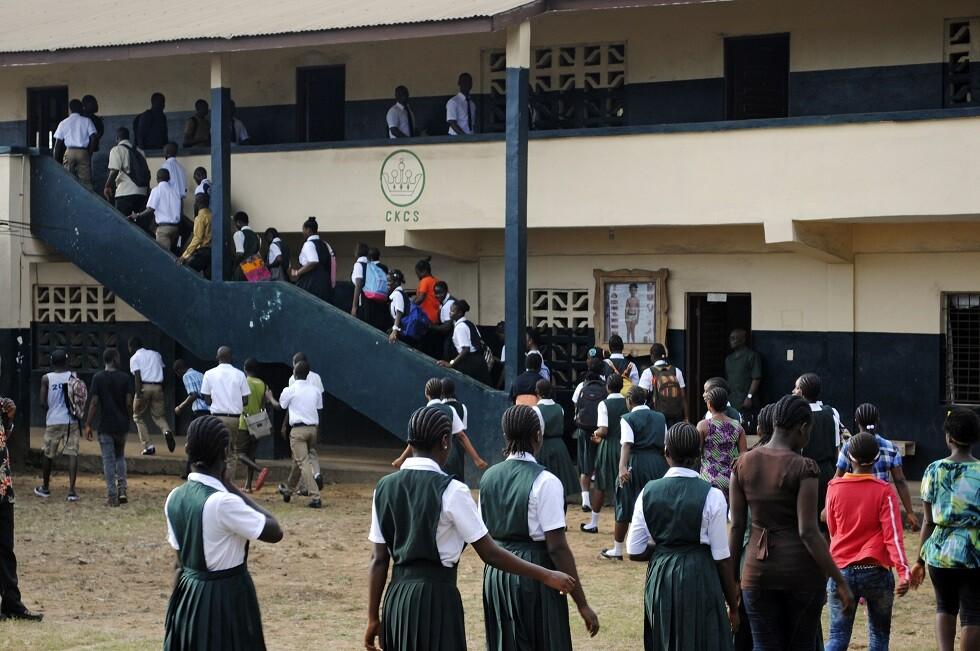 مدرسة في ليبيريا - أرشيف -