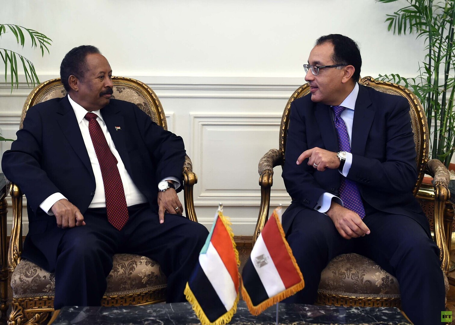 رئيسا وزراء مصر والسودان