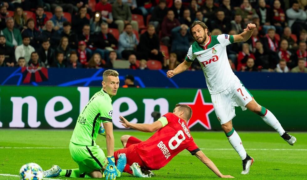 لوكوموتيف موسكو يهزم باير ليفركوزن الألماني في دوري الأبطال (فيديو)
