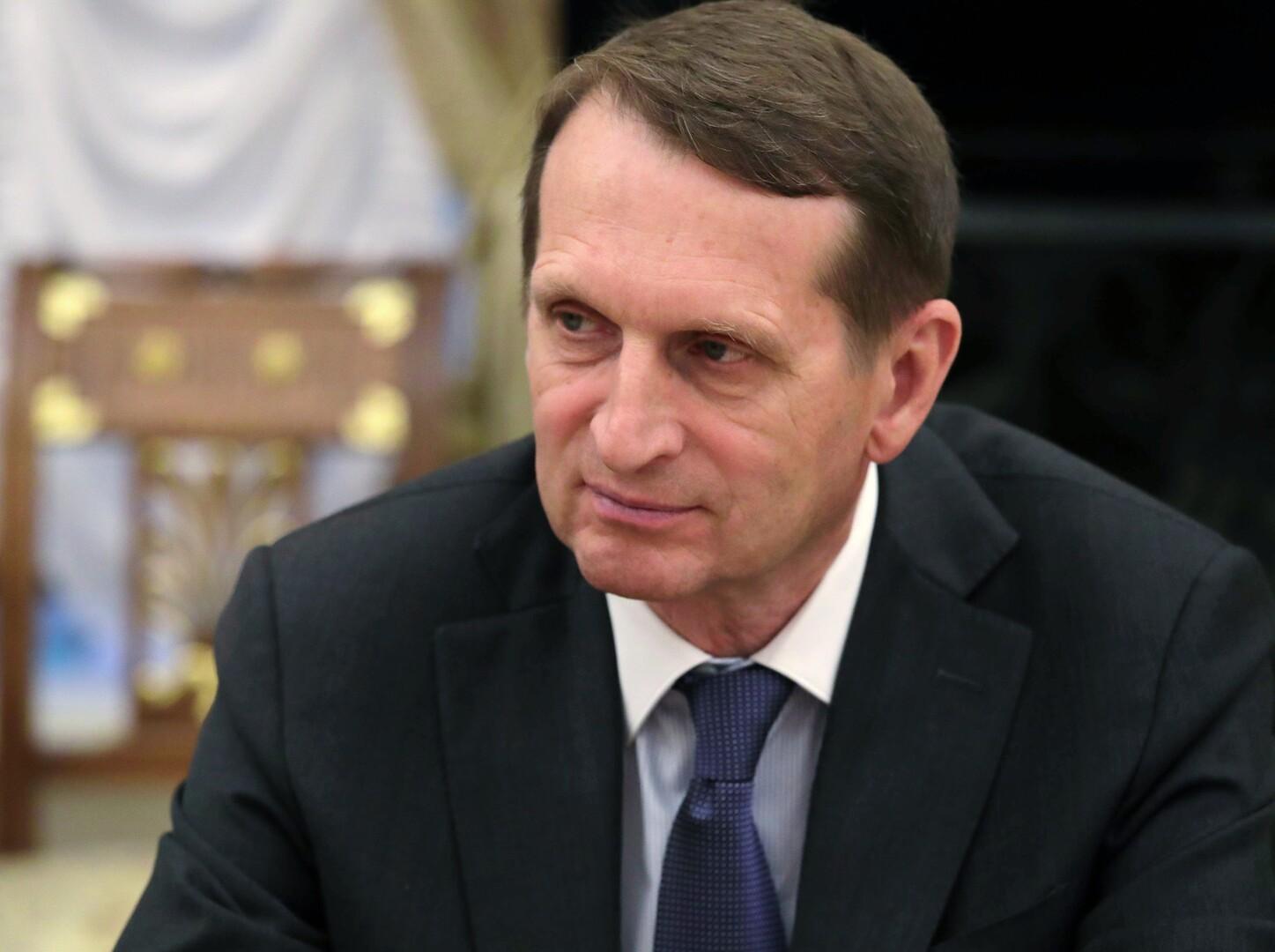 مدير جهاز الاستخبارات الخارجية الروسية، سيرغي ناريشكين