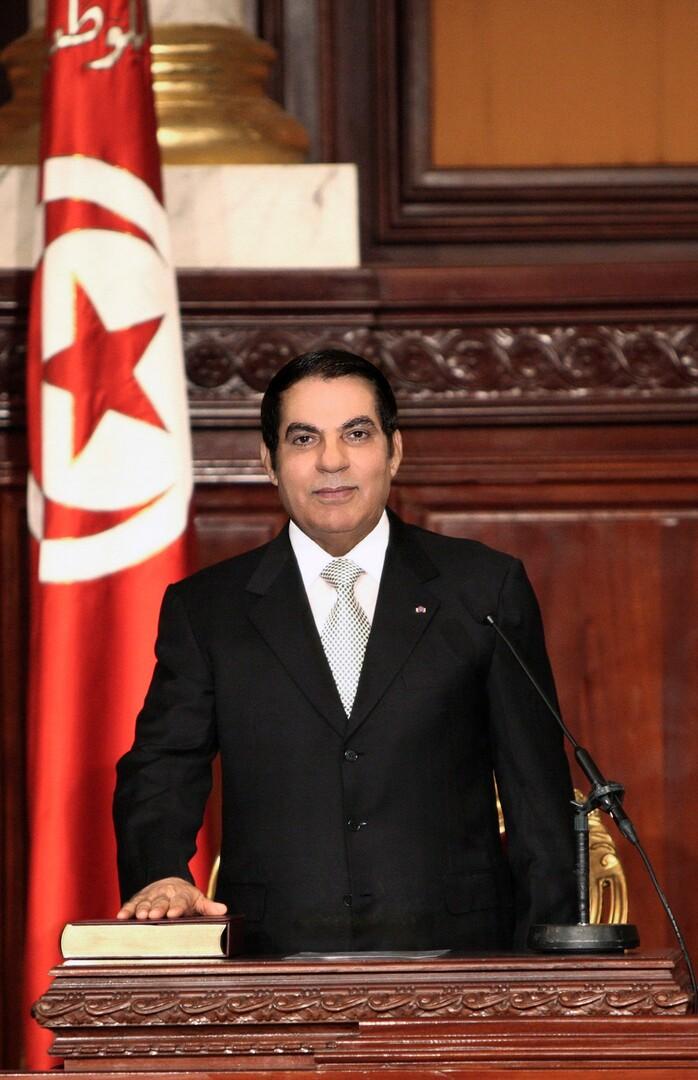 الرئيس الأسبق الراحل، زين العابدين بن علي