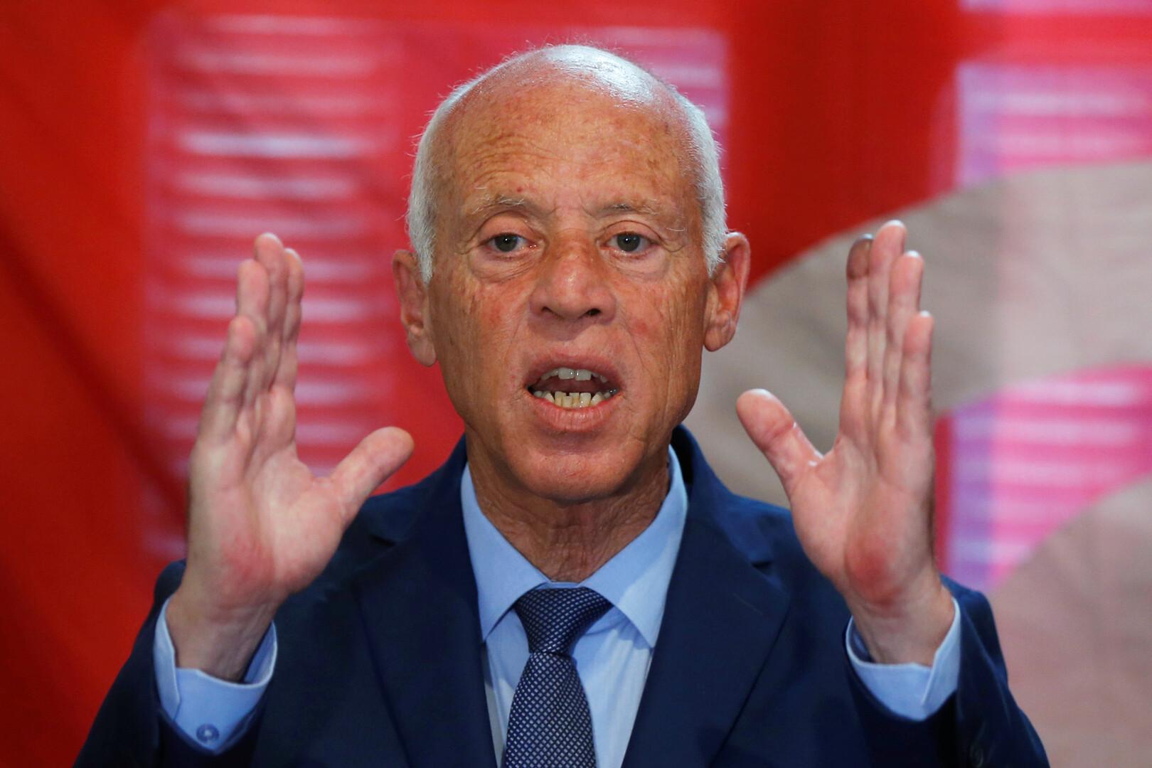المرشح للانتخابات الرئاسية التونسية قيس سعيد