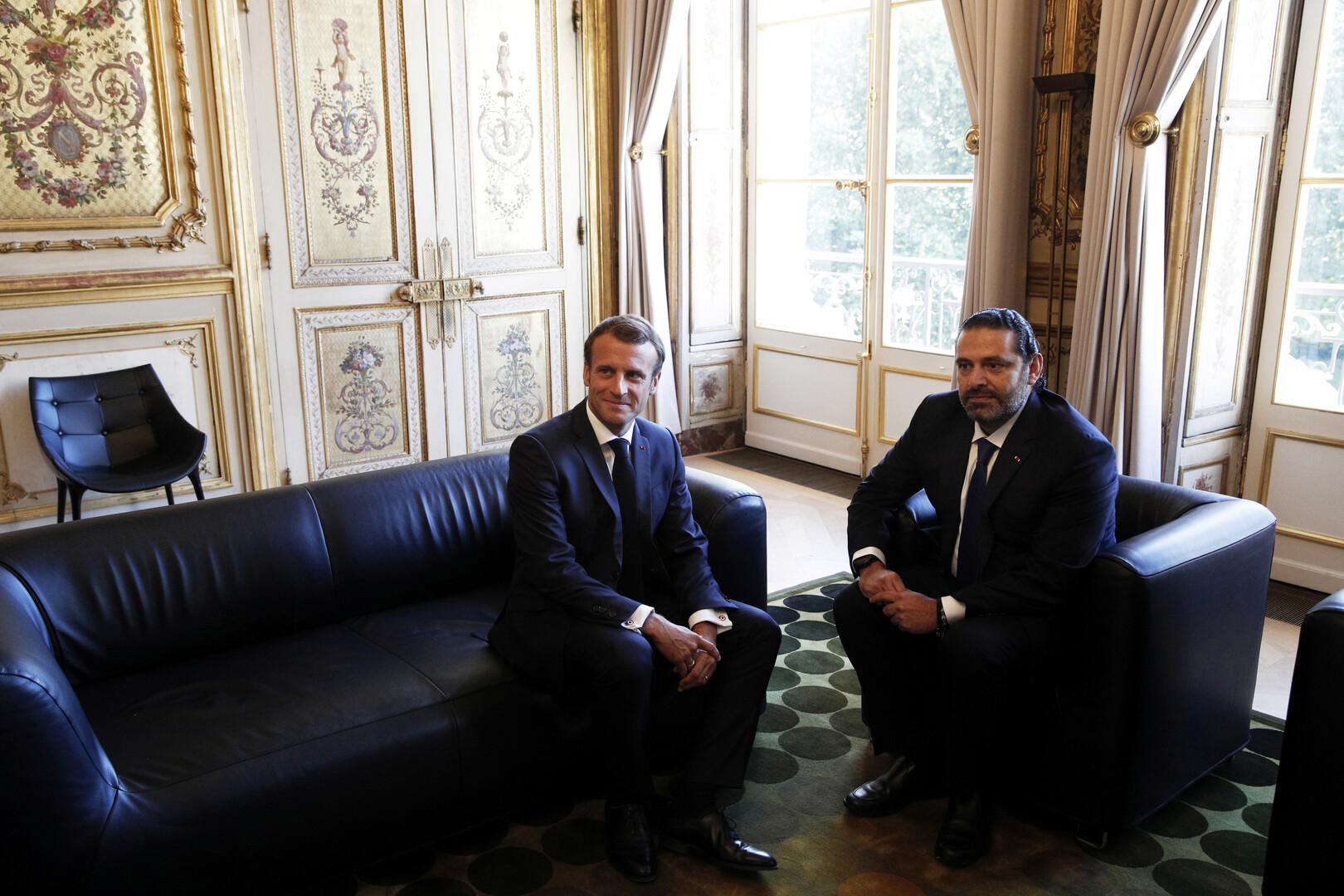 الحريري يكشف عن خطة فرنسية للتهدئة عقب