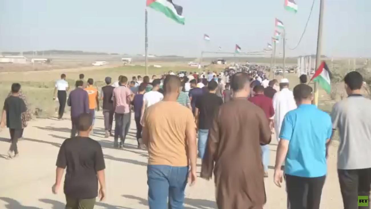 إصابة العشرات في مسيرة العودة بقطاع غزة