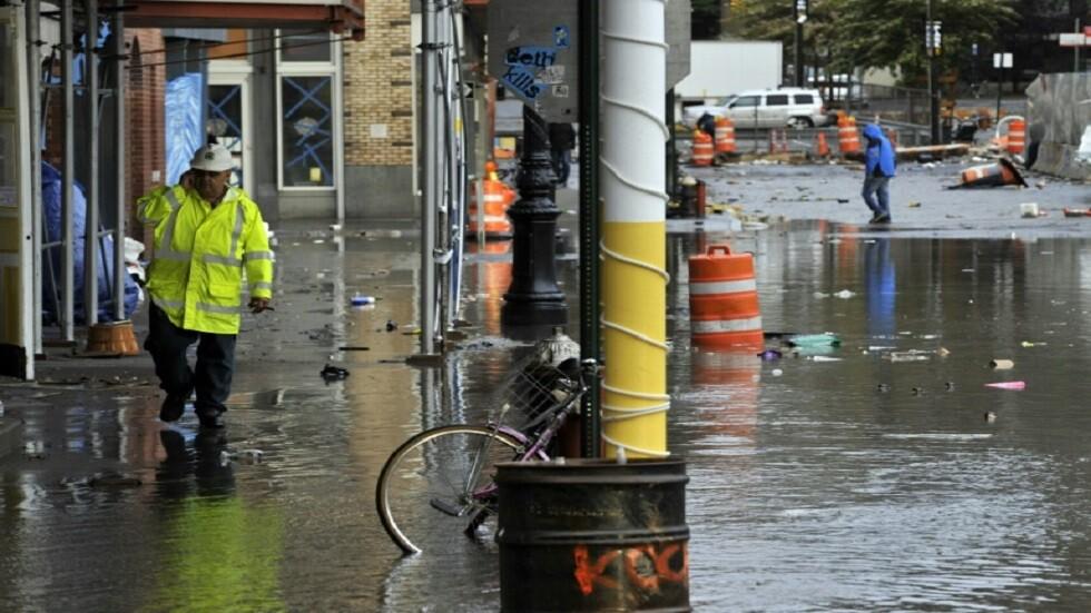 حي ساوث ستريت سيبورت في نيويورك في 30 أكتوبر 2012 غداة الإعصار ساندي