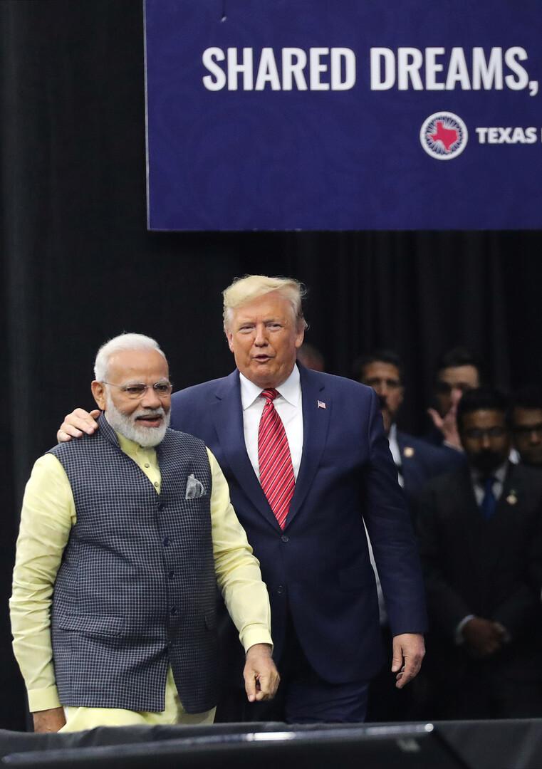 الرئيس الأمريكي دونالد ترامب ورئيس الوزراء الهندي ناريندرا مودي