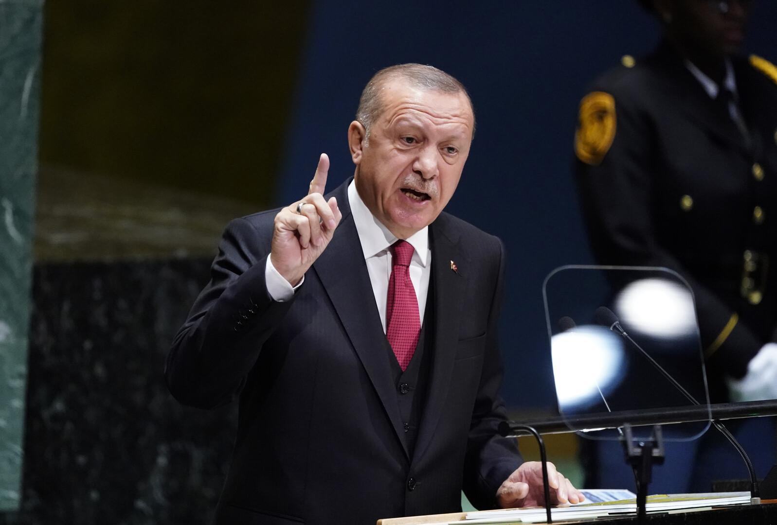 أردوغان يثير في الجمعية العامة قضيتي خاشقجي ومرسي