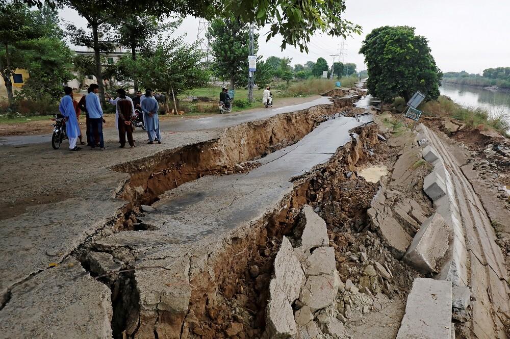 عواقب الزلزالا بمدينة ميربور بباكستان، 25 سبتمبر 2019