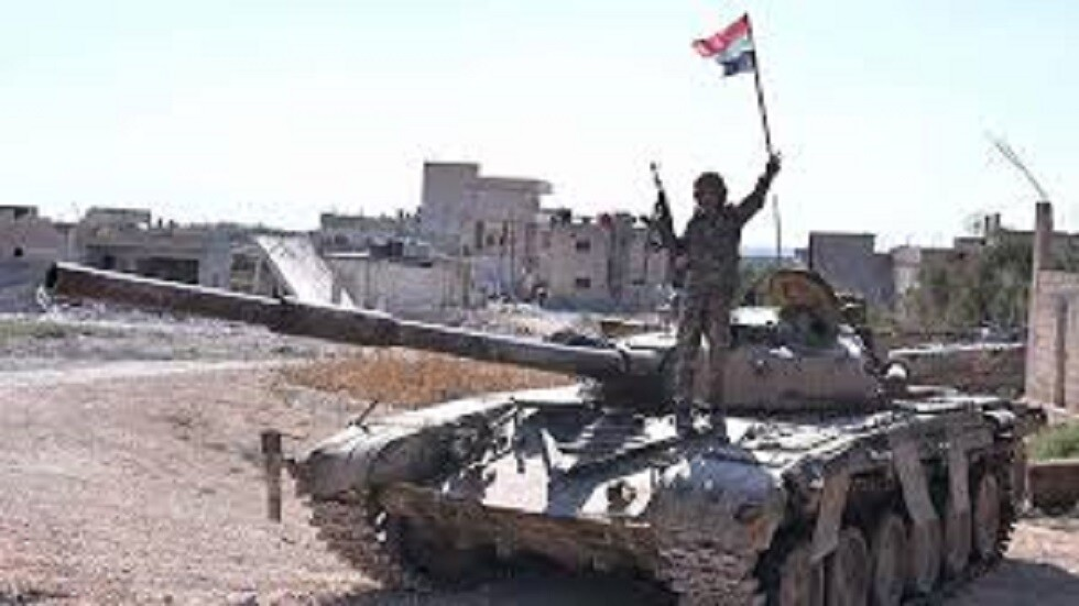 الجيش السوري في المناطق التي سيطر عليها مؤخرا في إدلب