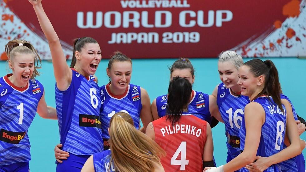 سيدات روسيا يحرزن الميدالية البرونزية لكأس العالم لكرة الطائرة (فيديو)