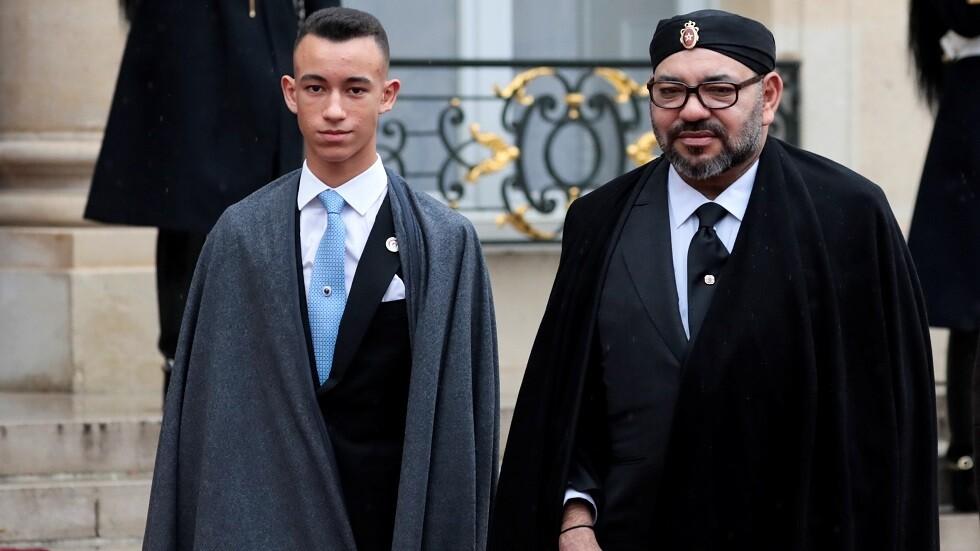 العاهل المغربي محمد السادس وولي عهده الأمير مولاي الحسن - أرشيف