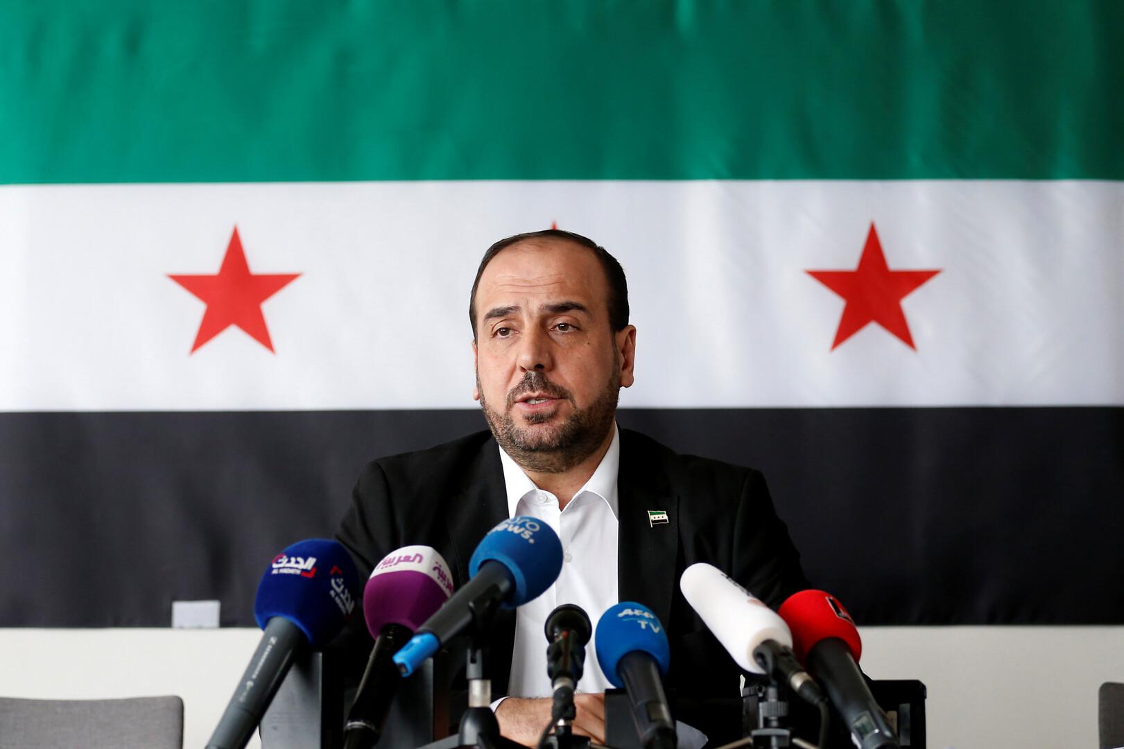 رئيس هيئة التفاوض السورية المعارضة نصر الحريري