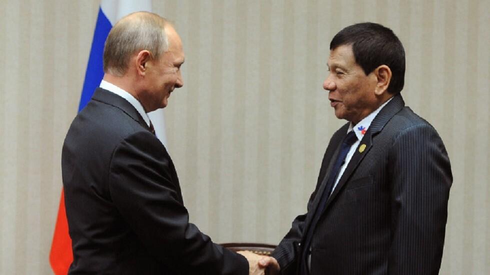 صحيفة: دوتيرتي سيبحث مع بوتين خلال زيارة إلى روسيا التعاون الدفاعي