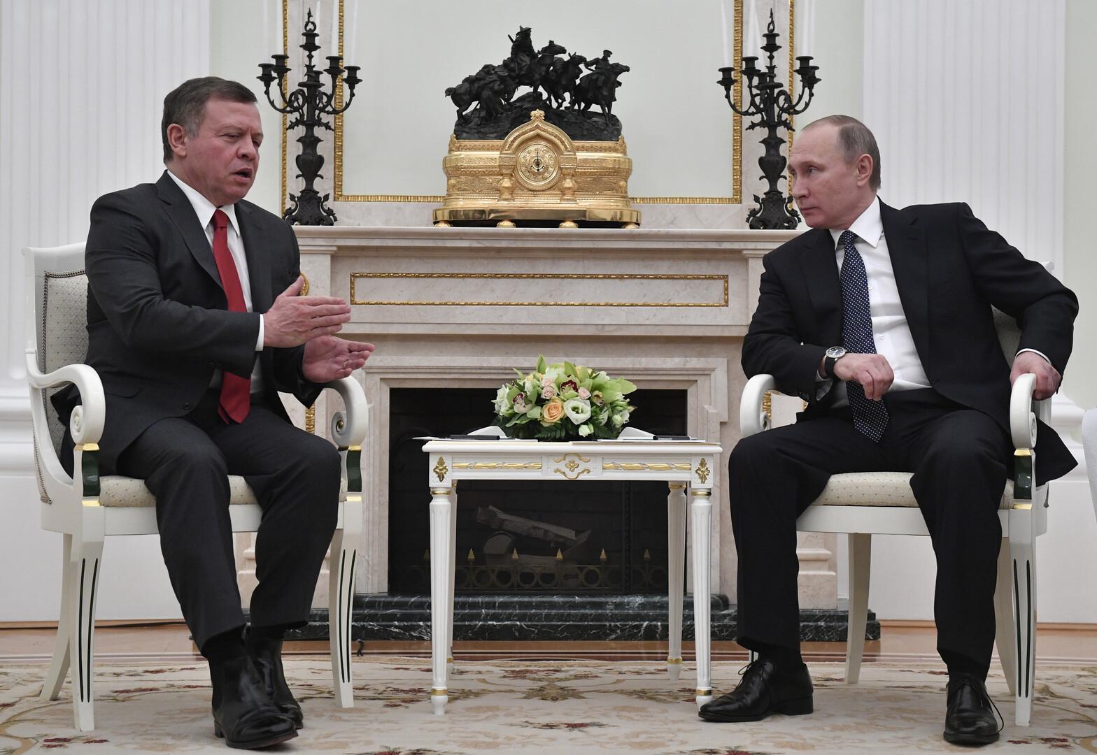 الرئيس الروسي فلاديمير بوتين والملك الأردني عبد الله الثاني - أرشيف