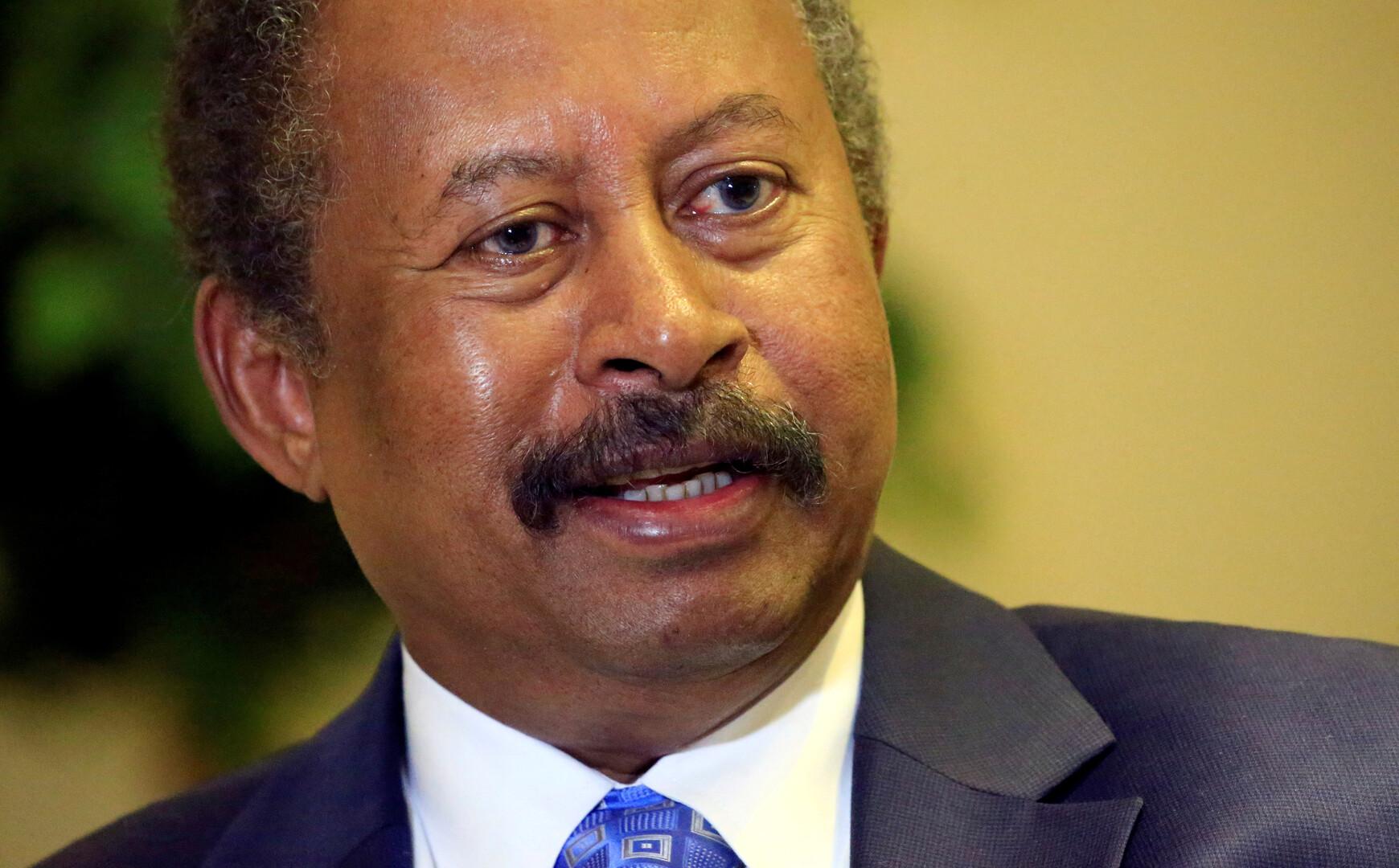 عبد الله حمدوك رئيس الحكومة السودانية
