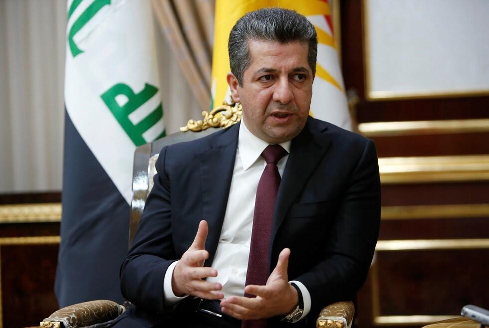 رئيس حكومة إقليم كردستان في شمال العراق مسرور بارزاني