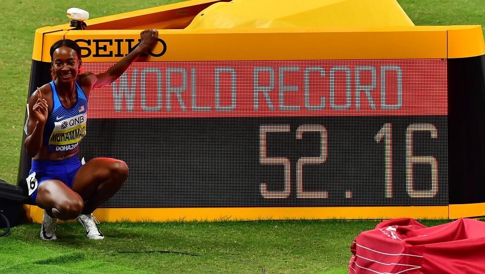دليلة محمد تحقق رقما قياسيا عالميا في مونديال قطر 2019 لأم الألعاب